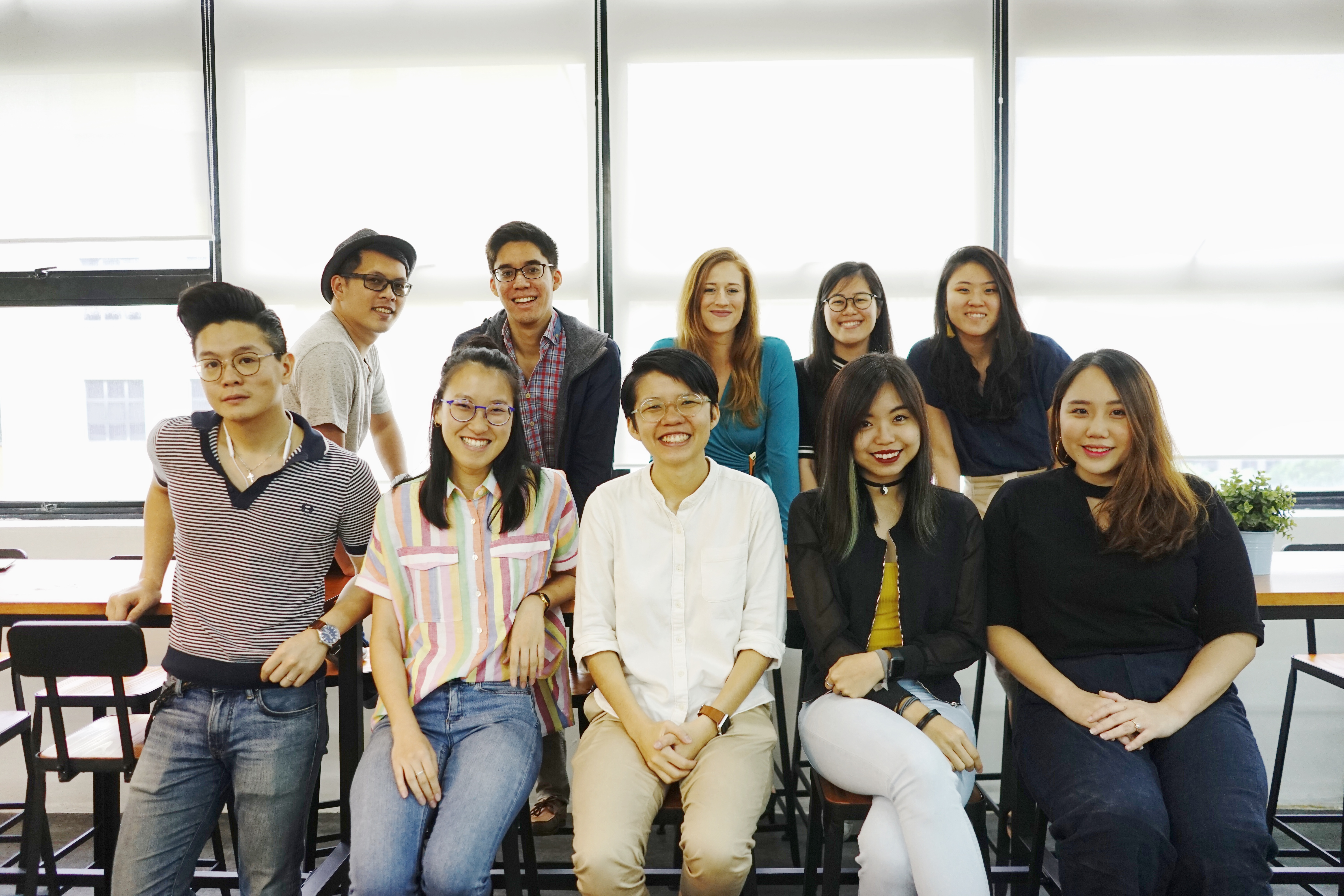 The marketing team at Circles.Life Singapore, consisting of marketing and community managers, analysts, and designers.