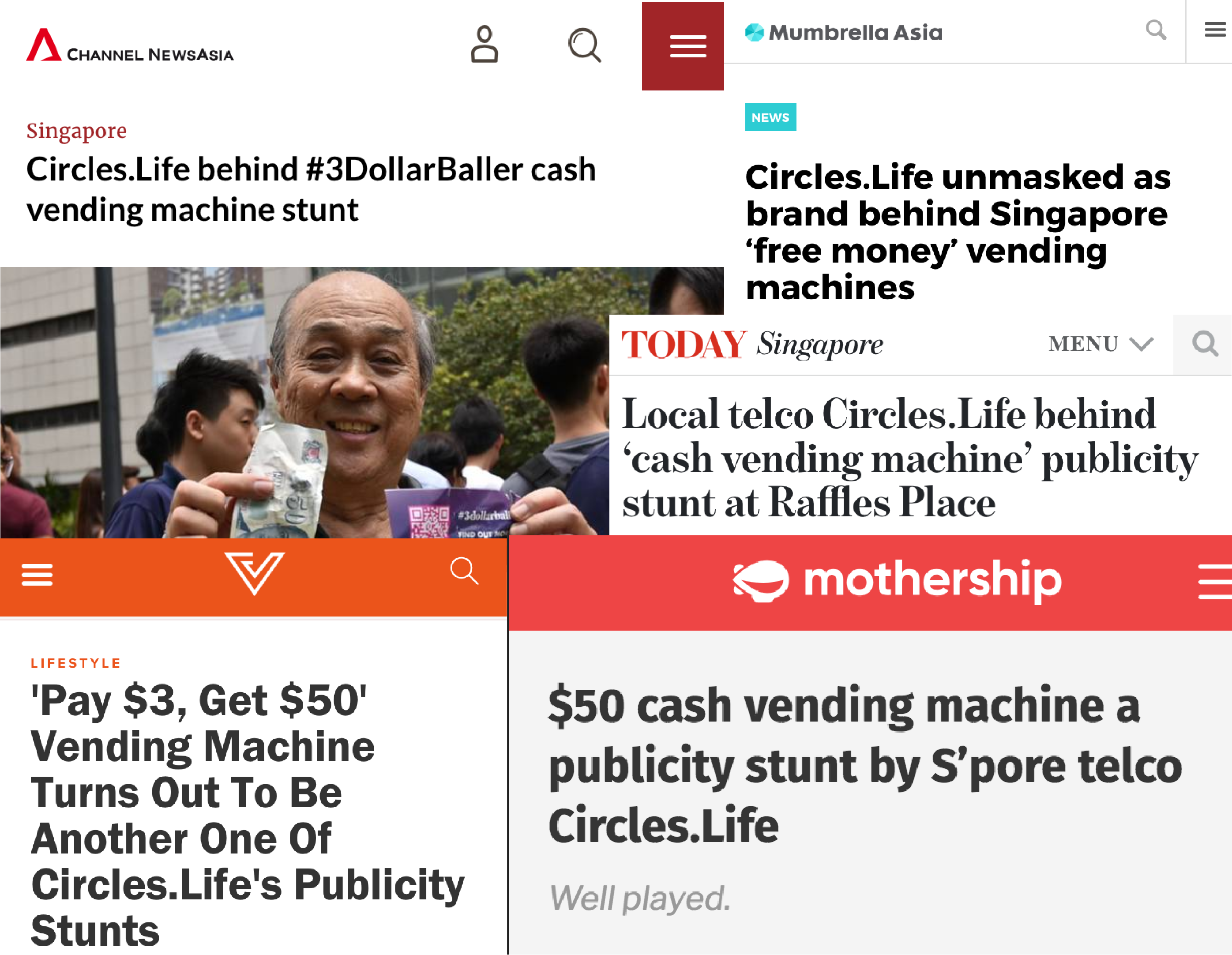 Headlines from the 3DollarBaller campaign